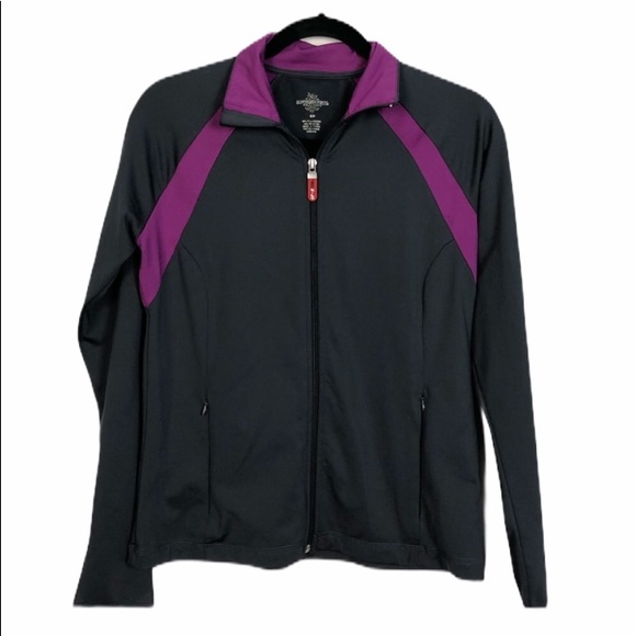 Sportex Dark Grey & Magenta Athletic Jacket Size S